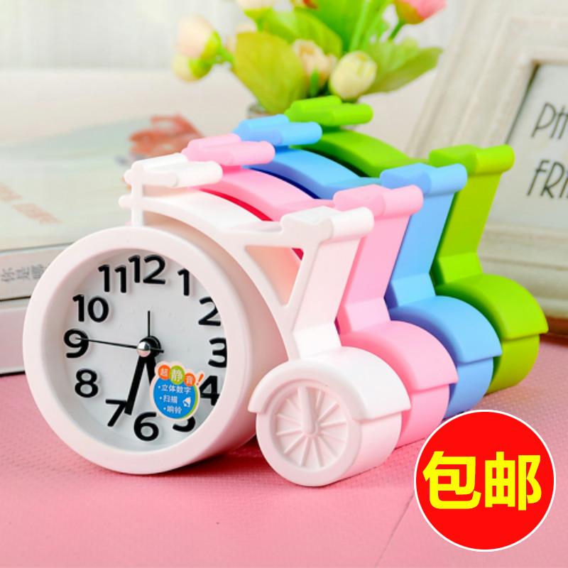 韩国创意静音小闹钟时尚个性学生儿童闹表卧室床头电子时钟表