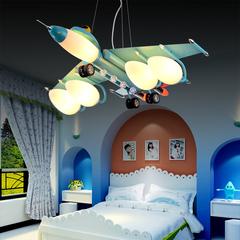 飞机吊灯led护眼男孩房间卧室灯创意个性卡通灯具儿童房吸顶灯
