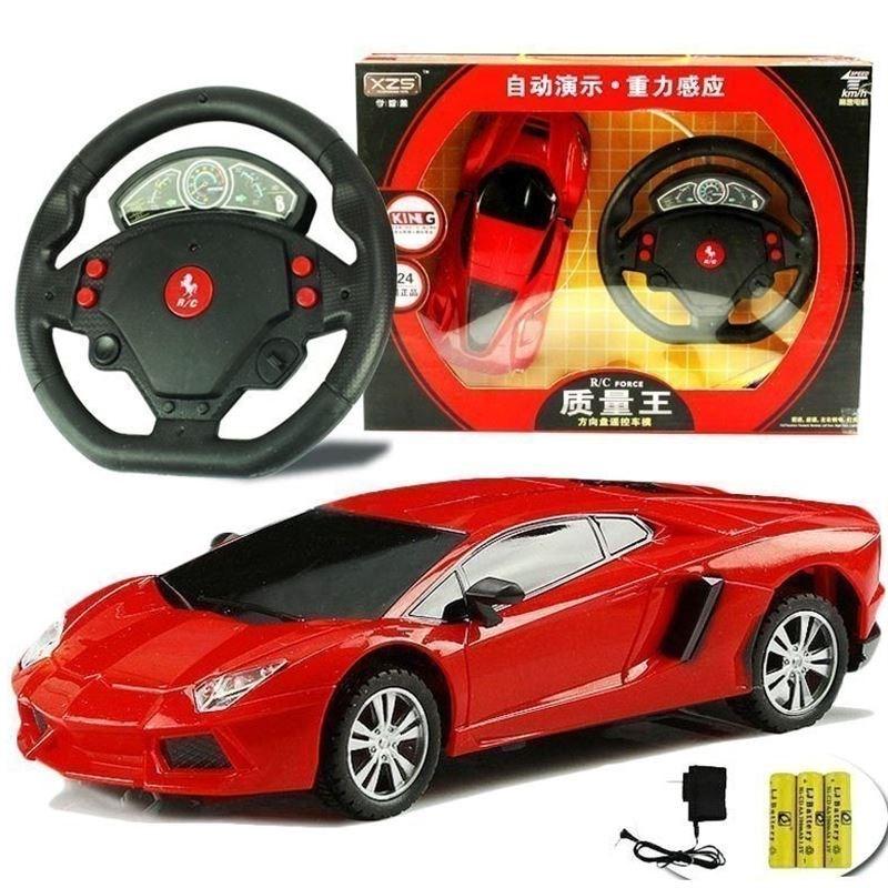 儿童遥控器车方向盘玩具摇控小汽车充电动男女孩跑车漂移赛车。