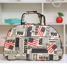 Large capacity cartoon Korean travel bag diagonal portable light travel bag fitness bag folding waterproof luggage bag