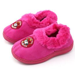 史努比儿童拖鞋女童棉鞋拖鞋家居鞋室内毛绒保暖鞋厚软底冬5-7岁