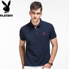 Playboy short-sleeved T-shirt men's spring half-sleeved business casual Slim clothes men's youth POLO shirt
