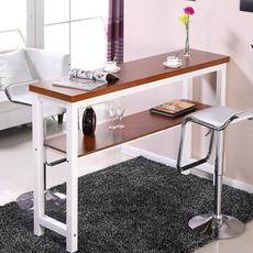 Simple bar table dining table home custom wall partition bar table long strip high kitchen nail double table