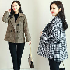 Deeply 2019 spring new style large size spring and autumn spring and autumn fashion short woolen coat coat female 8350