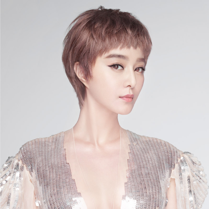 瑞贝卡假发冰冰款设计发型时尚帅气沙宣造型粉色齐耳短发短假发女图片