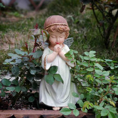 Prayer girl angel home garden balcony kindergarten decoration snowman fleshy flower gardening groceries little fairy