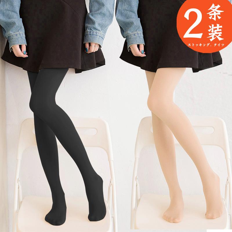 春秋季连裤袜加绒加厚打底裤袜肉色丝袜女显瘦光腿神器踩脚秋冬款