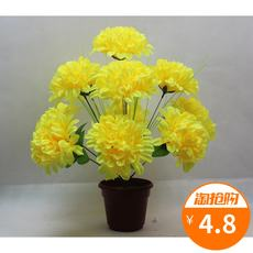 12 Dahlia Qingming simulation chrysanthemum sacrifice tomb grave tomb flower fake flower plastic flower factory direct