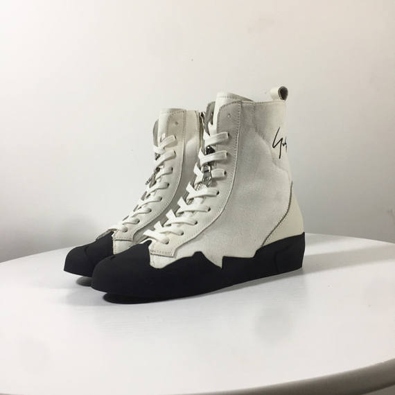 Yohji dark mountain wind 2018 autumn and winter high to help new short boots women in the tube increased canvas shoes