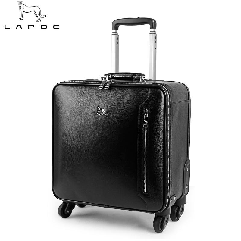 真皮拉杆箱20寸男女简约商务旅行箱万向轮行李箱包16寸密码牛皮箱