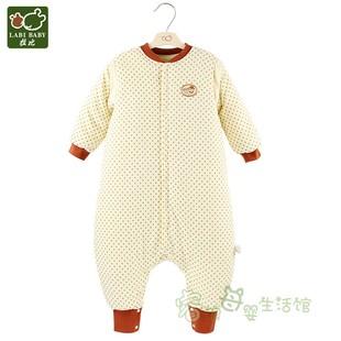 拉比婴儿冬款夹棉分腿睡袋LPGCA10801情侣熊连体衣宝宝厚款特惠