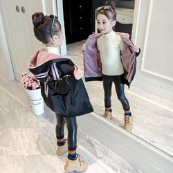 童装女童冬季外套2018新款加绒加厚韩版洋气秋冬装儿童小女孩夹克