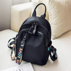 Backpack female 2018 new Korean version of the tide wild fashion Oxford cloth canvas bag female 2019 ladies small backpack