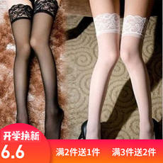 Spring and summer women's garter lace female senses stockings black temptation anti-hook long tube pantyhose set underwear thin