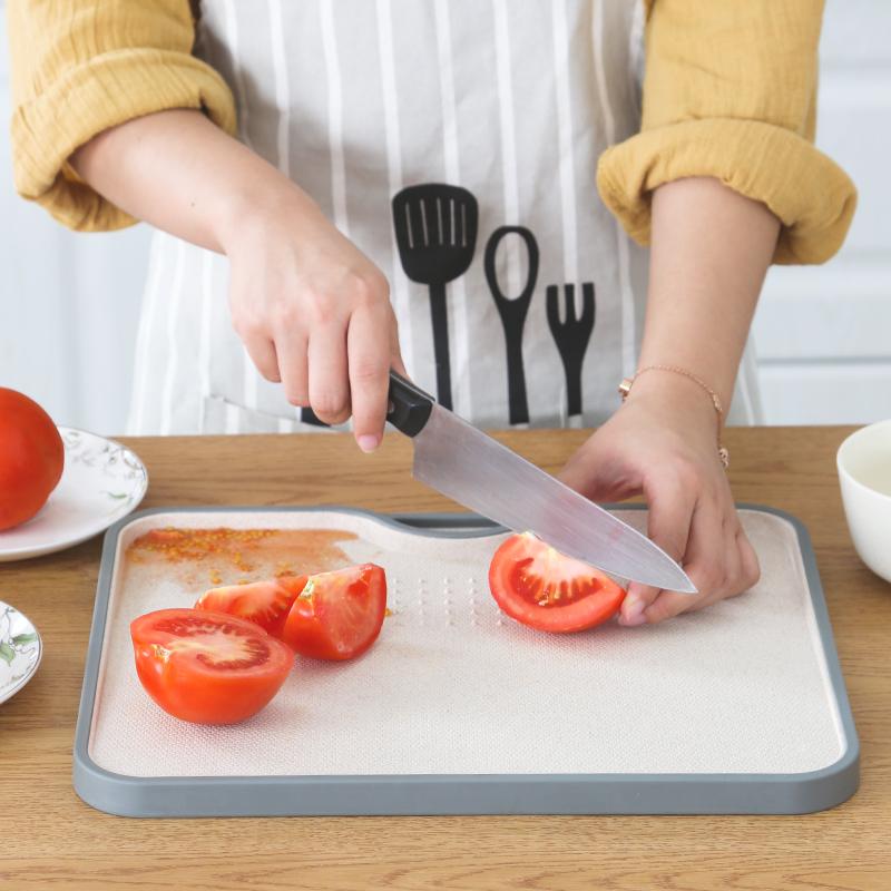 小麦秸秆斜切砧板宝宝儿童菜板家用厨房防霉案板实木水果沾粘刀板