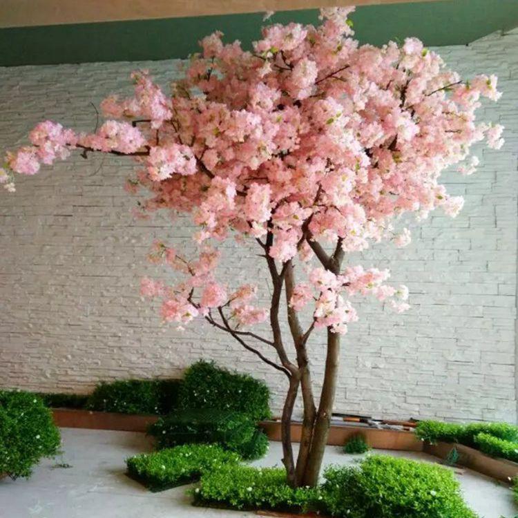 仿真樱花树 许愿树假树 梅花树酒店客厅婚庆装饰仿真桃花树包邮