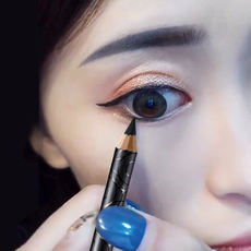 Kazi blue eyeliner pencil adhesive waterproof and sweat-proof non-marking lasting not blooming genuine fake plain lazy female