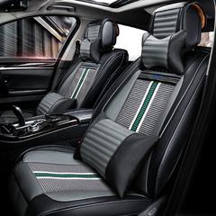 经典皮革机编汽车坐垫夏季透气全覆盖专车专用座套免绑通用四季垫