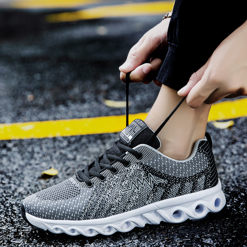 透气运动鞋休闲鞋男鞋子韩版潮流内增高鞋学生防滑跑步鞋夏季潮鞋