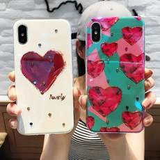 Apple X mobile phone shell iphone7 Blu-ray love soft protective cover 6plus all-inclusive 8p glue 6s personality tide female