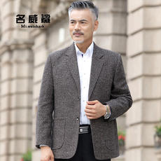 Autumn and winter models middle-aged men's suits shirts business casual single-piece middle-aged suits large size daddy men's jacket