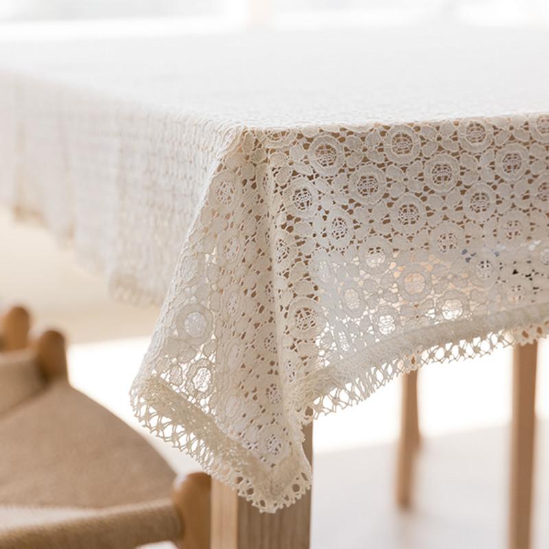 韩国进口正品镂空蕾丝长方形桌布台布茶几布艺客厅餐桌布床柜盖巾