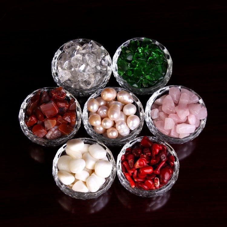 佛家珍珠碎石佛具密宗佛教用品七宝石供佛装藏供曼扎盘摆件50克