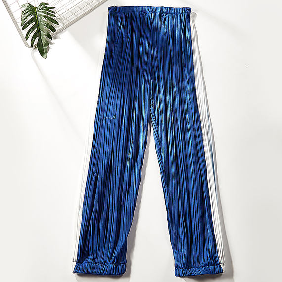 Sister story 2018 summer new loose casual pleated pants Harlan Lantern trousers 0405