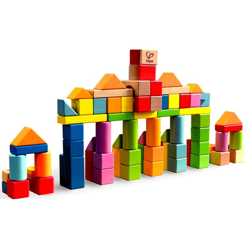 hape80粒积木积木益智儿童婴儿宝宝玩具1-2-3木制大豪房图片