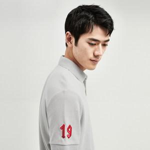 GXG男装  夏季男士时尚流行青年修身多色短袖刺绣POLO衫翻领T恤男