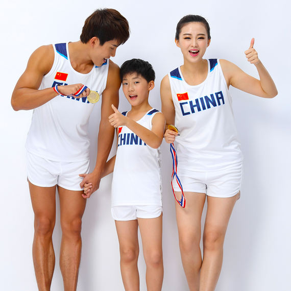 Men's and women's track and field training and competition suits, primary and middle school children's track and field clothing, high school entrance examination, running clothes, printing