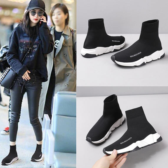Ins super fire stretch socks shoes women Paris 2018 new Korean version of ulzzang casual sports men and women couple shoes