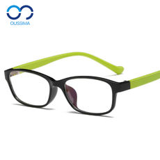 Children's myopic glasses frame TR90 glasses frame ultra-light drop-resistant folding 5-12 primary school students male and female same paragraph 1729