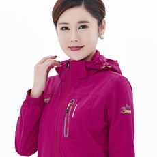 Spring and Autumn single-layer Jackets Women Thin models Large yard Elasticity Outdoor coat Windproof Breathable Moms Summer
