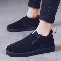 冬季男士雪地靴加绒保暖毛毛棉鞋男鞋短靴冬天懒人一脚蹬防水棉靴