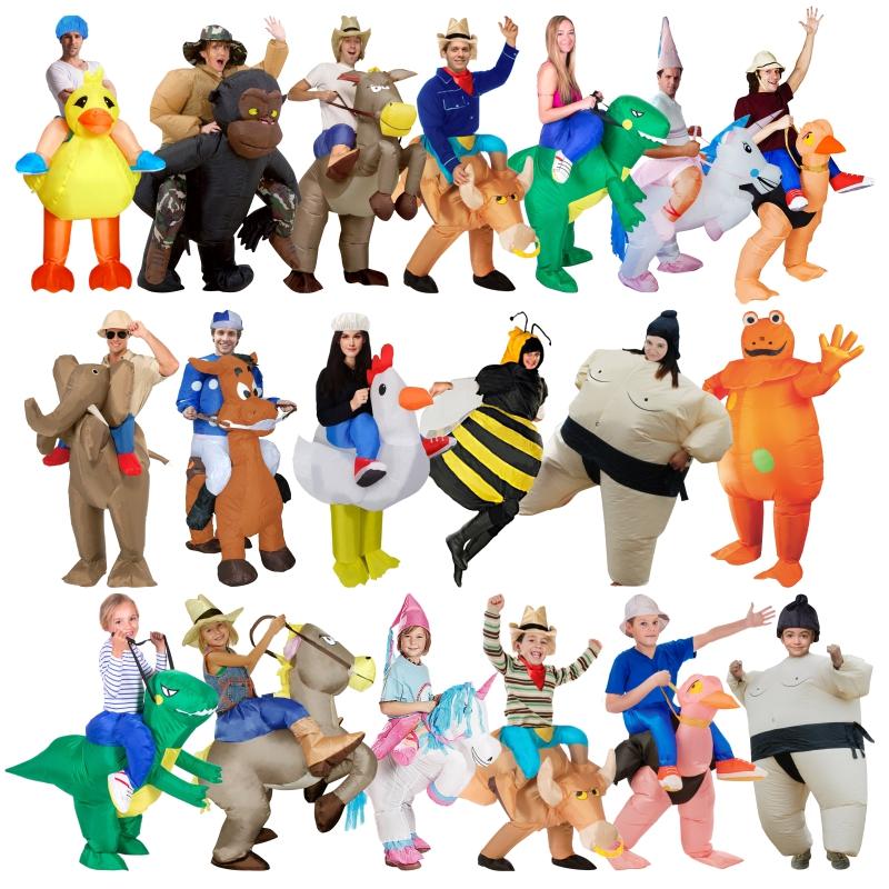 儿童**恐龙充气服装人偶动物表演衣cosplay酒吧坐骑裤子送风机
