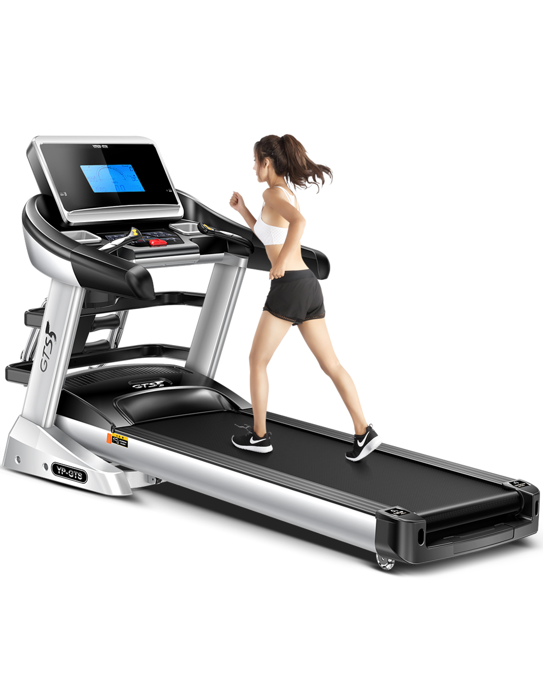 易跑YP-GTS5-1跑步机多功能5吋液晶蓝屏智能家用跑步机