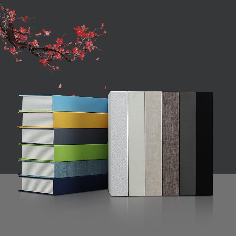假书条纹麻布书新中式仿真书装饰摆件售楼部展厅办公室纯色道具书