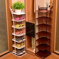 Entry shoe rack dormitory female simple small shoe rack creative household space wrought iron shoe cabinet multi-layer economical dustproof