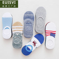 Boat socks men's socks men's summer socks cotton shallow mouth deodorant invisible socks sweat-absorbent slip thin section low to help men's socks