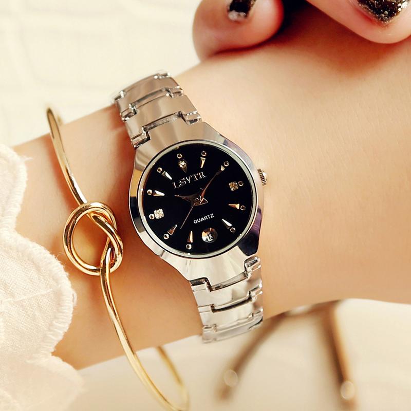 韩版时尚超薄女生手表石英表防水合金水钻表女士腕表商务手表女表