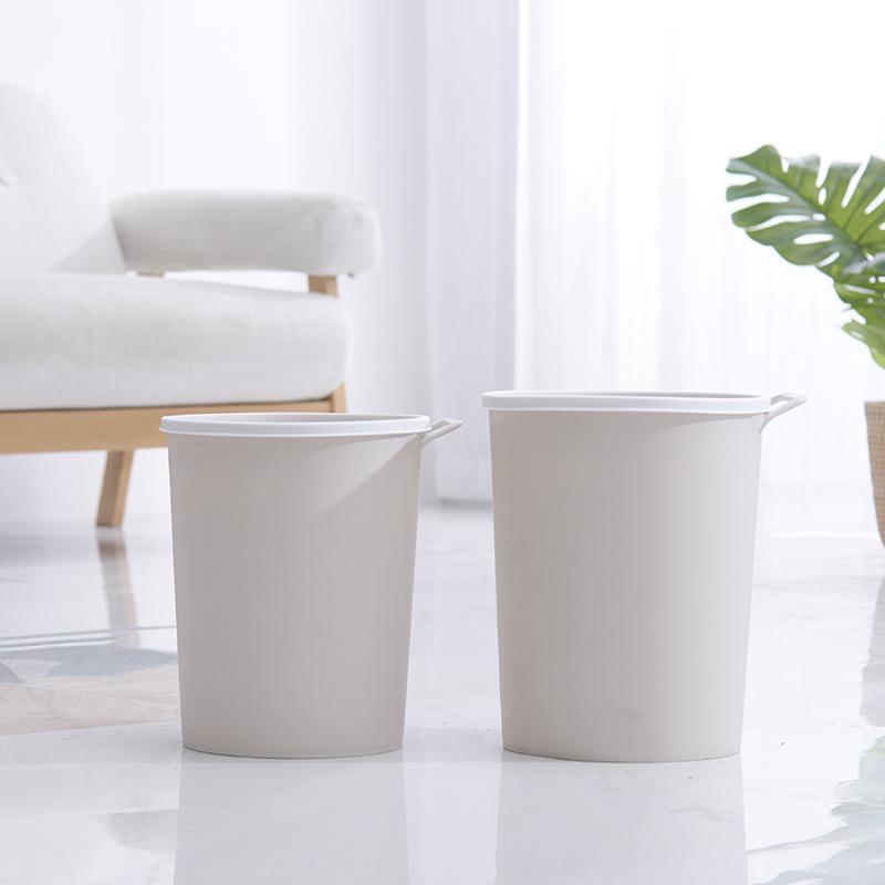 青静衣祥创意时尚卫生间厨房客厅家用垃圾桶 可手提无盖垃圾筒