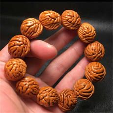 Dragon peach nuclear bracelet boutique Qinling wild natural round gold fish belly men and women bracelets evil spirits direct sales