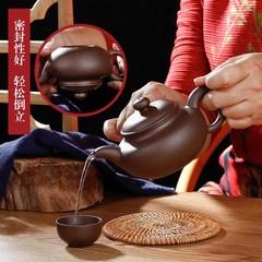 宜兴朱泥紫砂单壶 纯手工茶功夫大容量小号茶壶套装 捡漏家用茶具