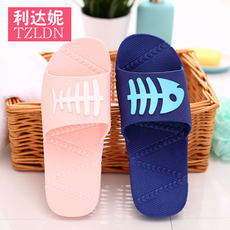 Bathroom slippers female summer anti-slip indoor home thick crust bath cute couple home ladies sandals male summer