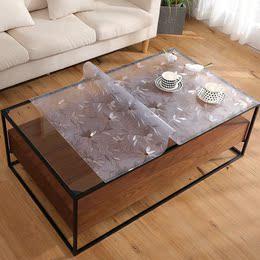 餐桌垫椭圆形2mm包邮防烫免洗正方形透明软塑料玻璃PVC桌布水晶板