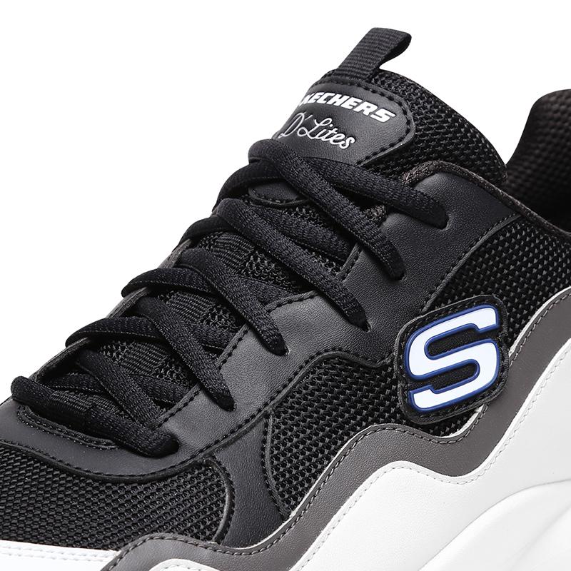 Skechers斯凯奇男鞋NEXT乐华七子同款D'lites休闲鞋 厚底复古鞋