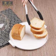 君之食品夹子加长 厨房水果夹加厚 烘焙蛋糕面包夹 不锈钢牛排夹