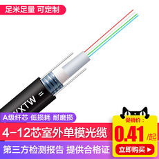 Yangye GYXTW4 core cable single-mode outdoor fiber optic cable center tube type light armored cable 6/8/12 core