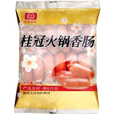 周东阳冻品桂冠火锅香肠亲亲肠火锅料 120g 烤肠料火锅